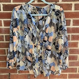 Lucky Brand 3/4 Sleeves Blouse